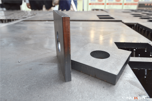 fiber laser cutting mild steel